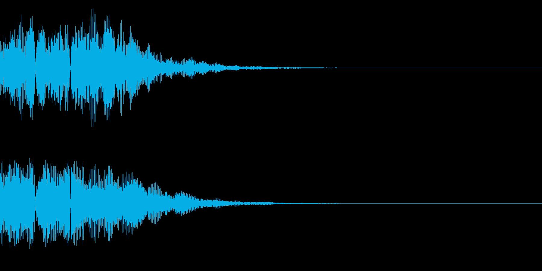 ボタン、テロップの再生済みの波形