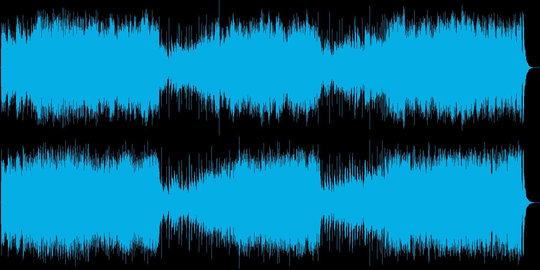 かっこよく壮大でダークなバトル音楽の再生済みの波形