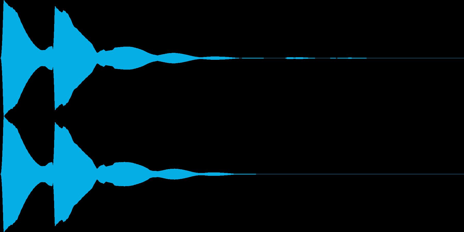 アラート - ピピッの再生済みの波形