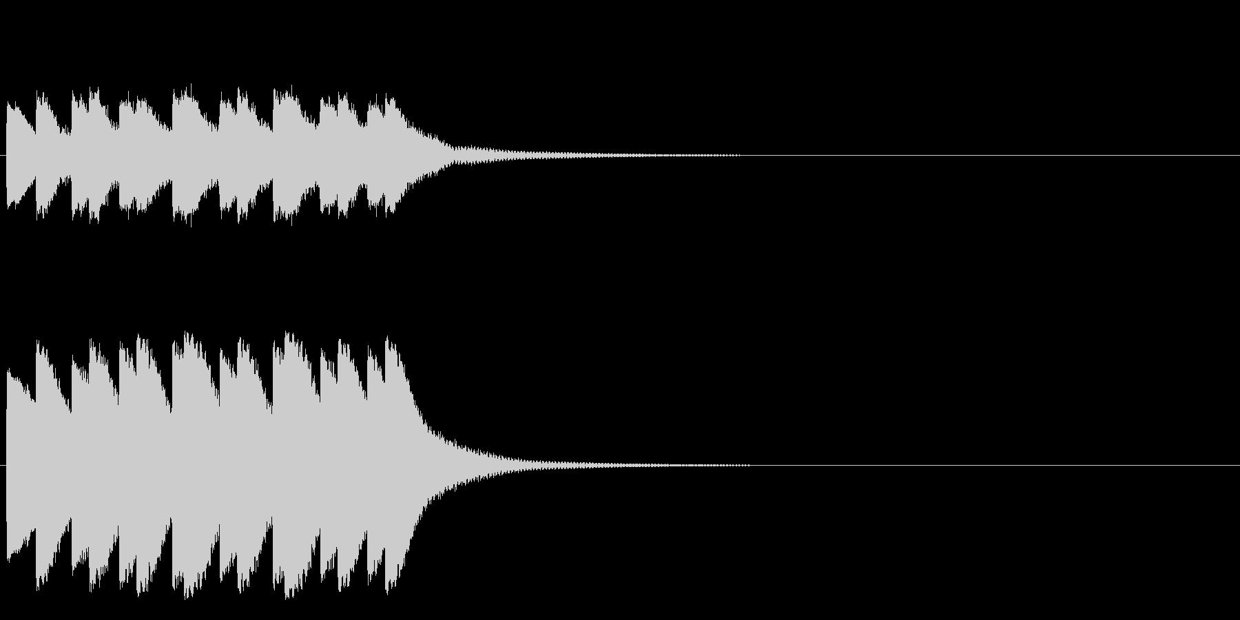 ティロティロティロティロ・・・(ベル)の未再生の波形