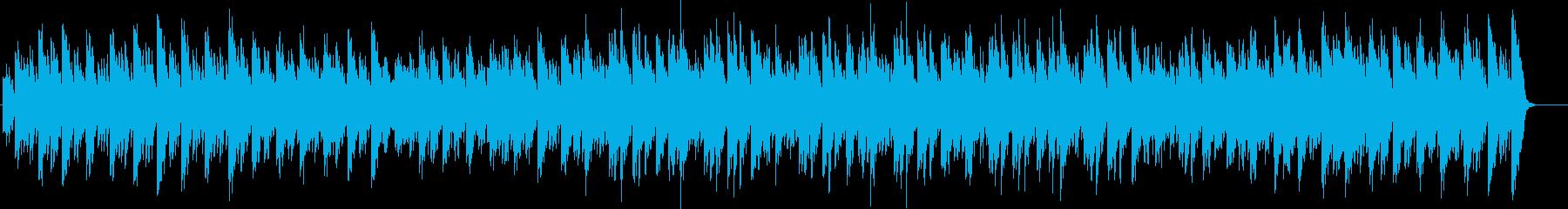 ラジオドラマのエンディング曲の再生済みの波形