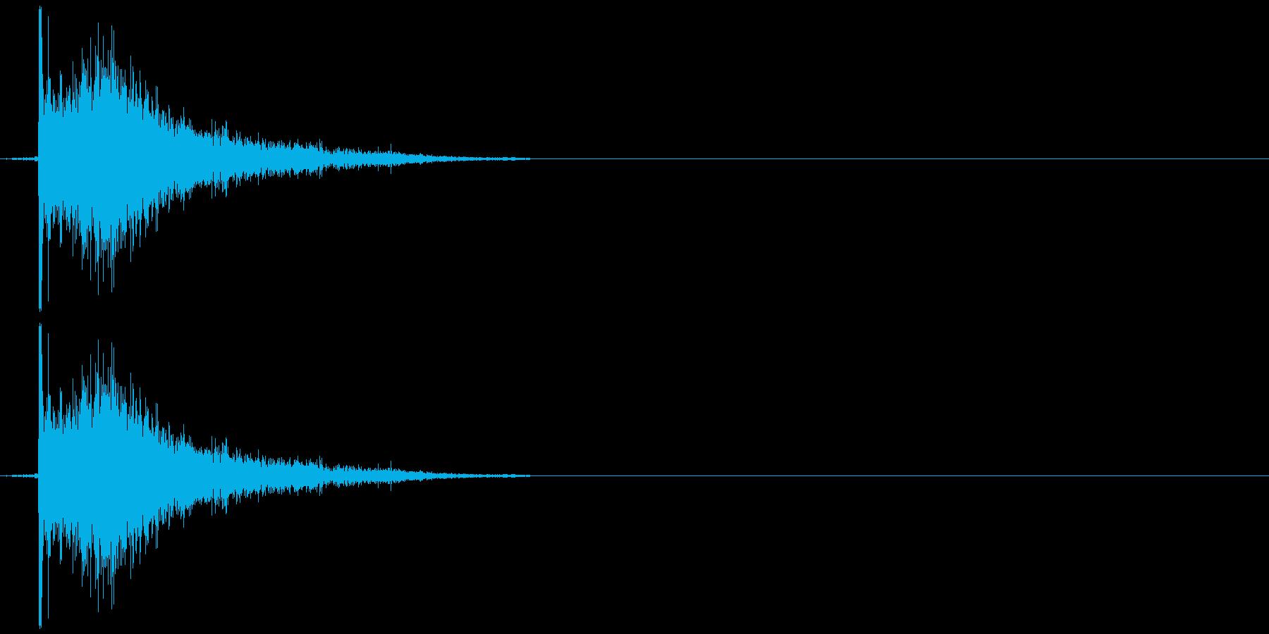 プシュ!と炭酸のペットボトルを開ける音の再生済みの波形