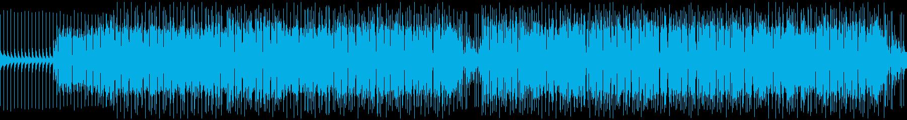 音数の少ないロックでスリリングなBGMの再生済みの波形