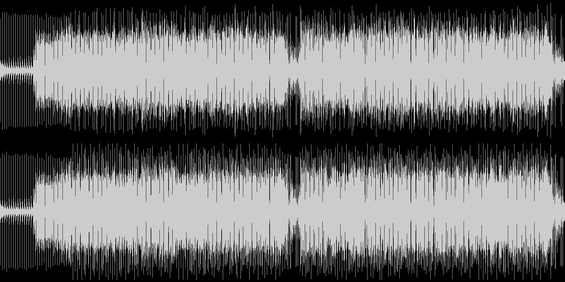 音数の少ないロックでスリリングなBGMの未再生の波形