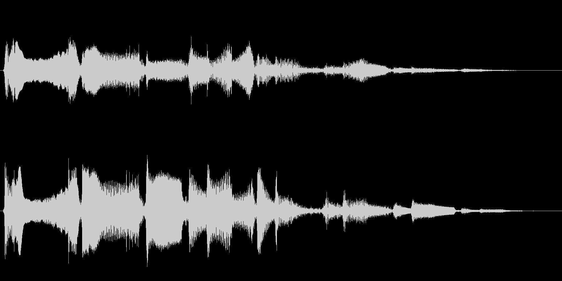 変化をもたらす長く愉快な効果音の未再生の波形