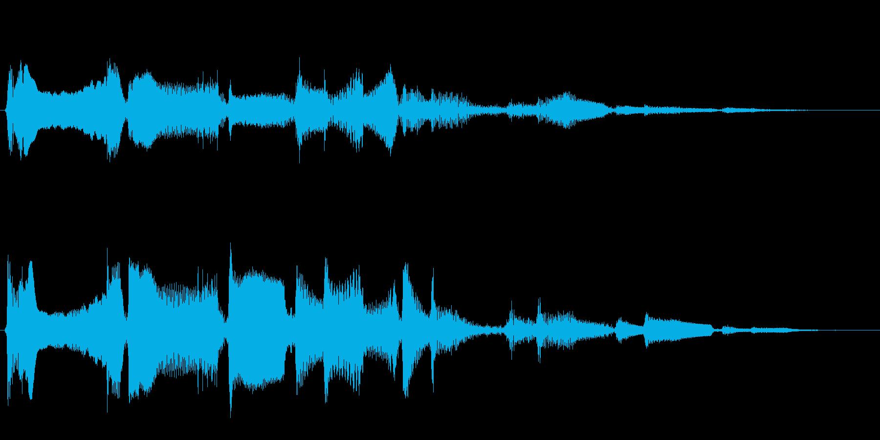 変化をもたらす長く愉快な効果音の再生済みの波形