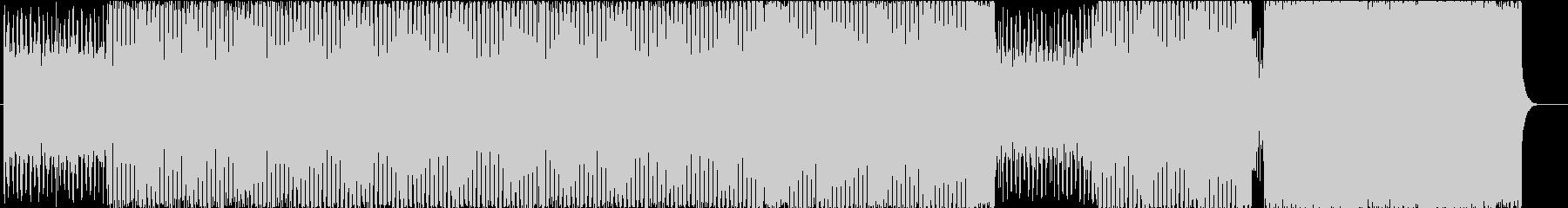 賑やかなテクノ調な曲の未再生の波形