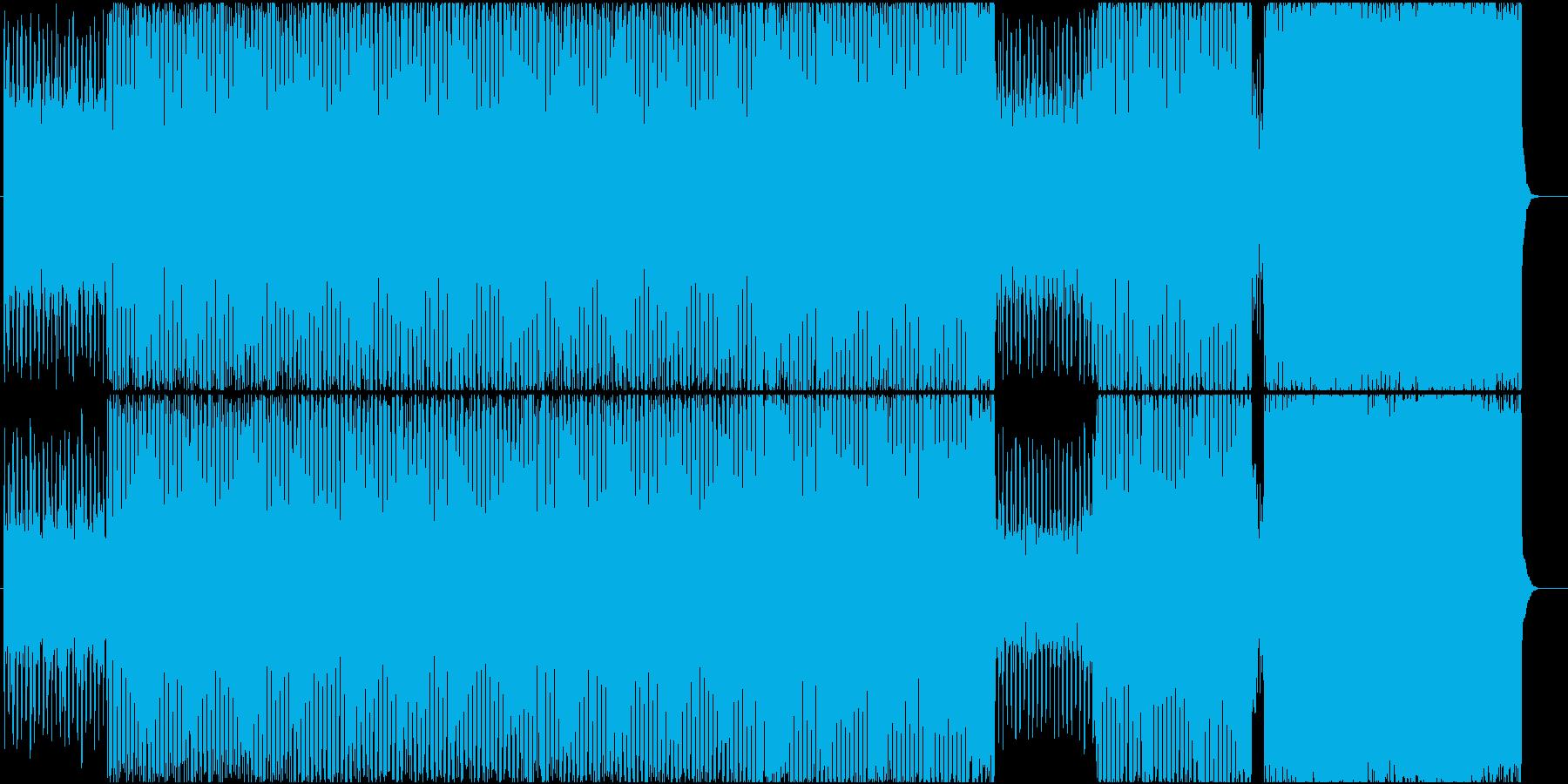 賑やかなテクノ調な曲の再生済みの波形