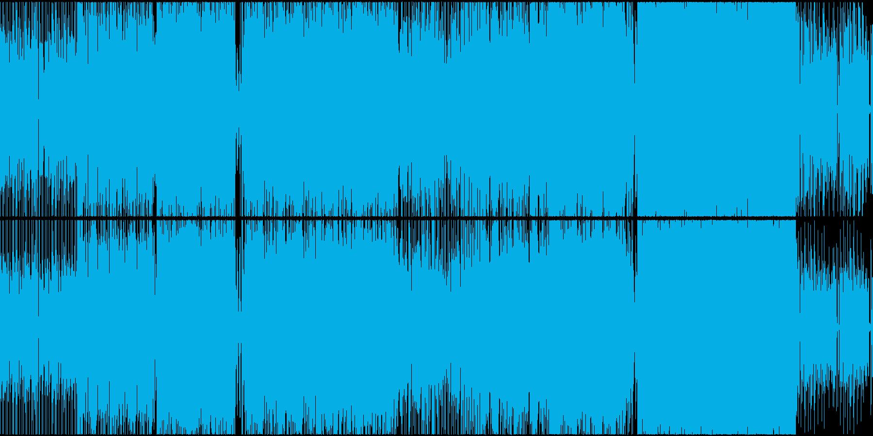 疾走感のあるロック調テクノの再生済みの波形