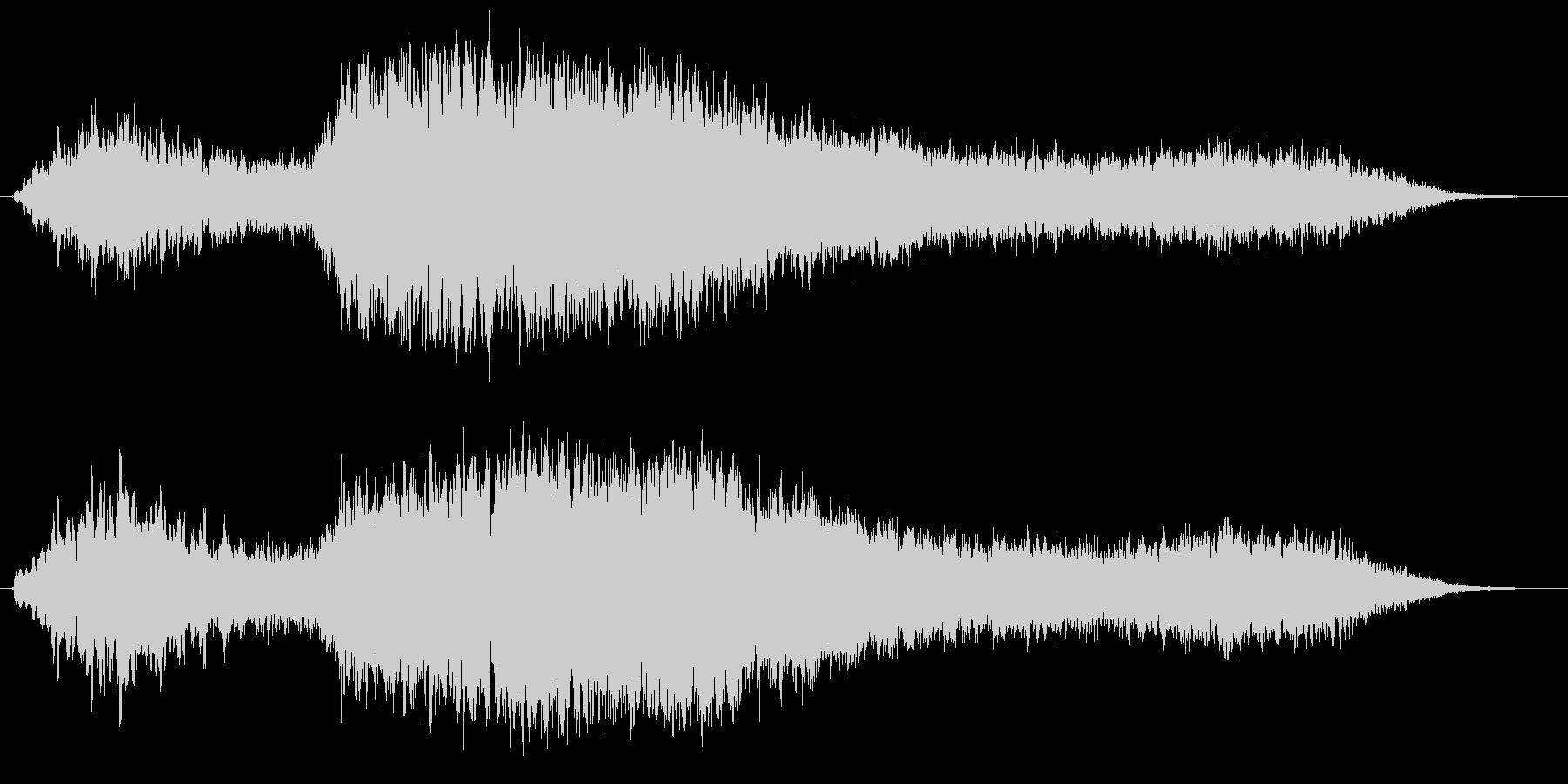 神秘的な音の未再生の波形