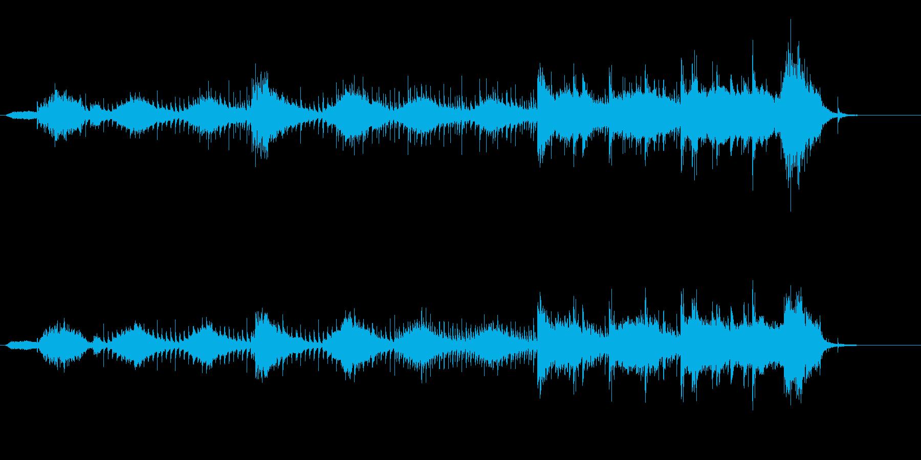 メランコリックで無機質な調べの再生済みの波形