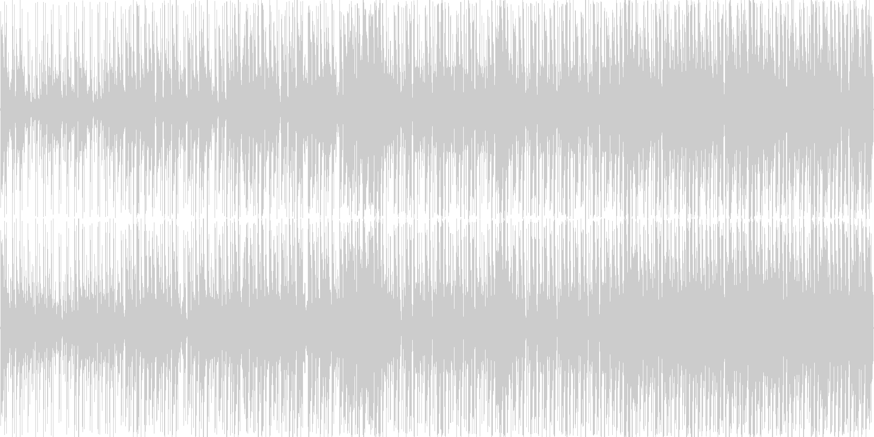 リズミカルで少し焦らせるようなBGMの未再生の波形