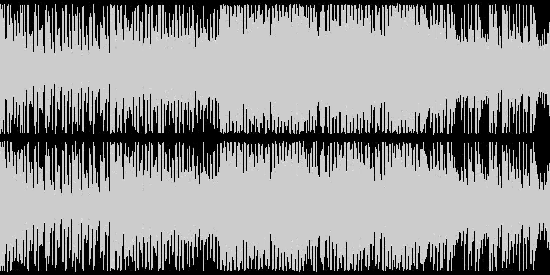 ループ、対戦、シューティング、BGMの未再生の波形
