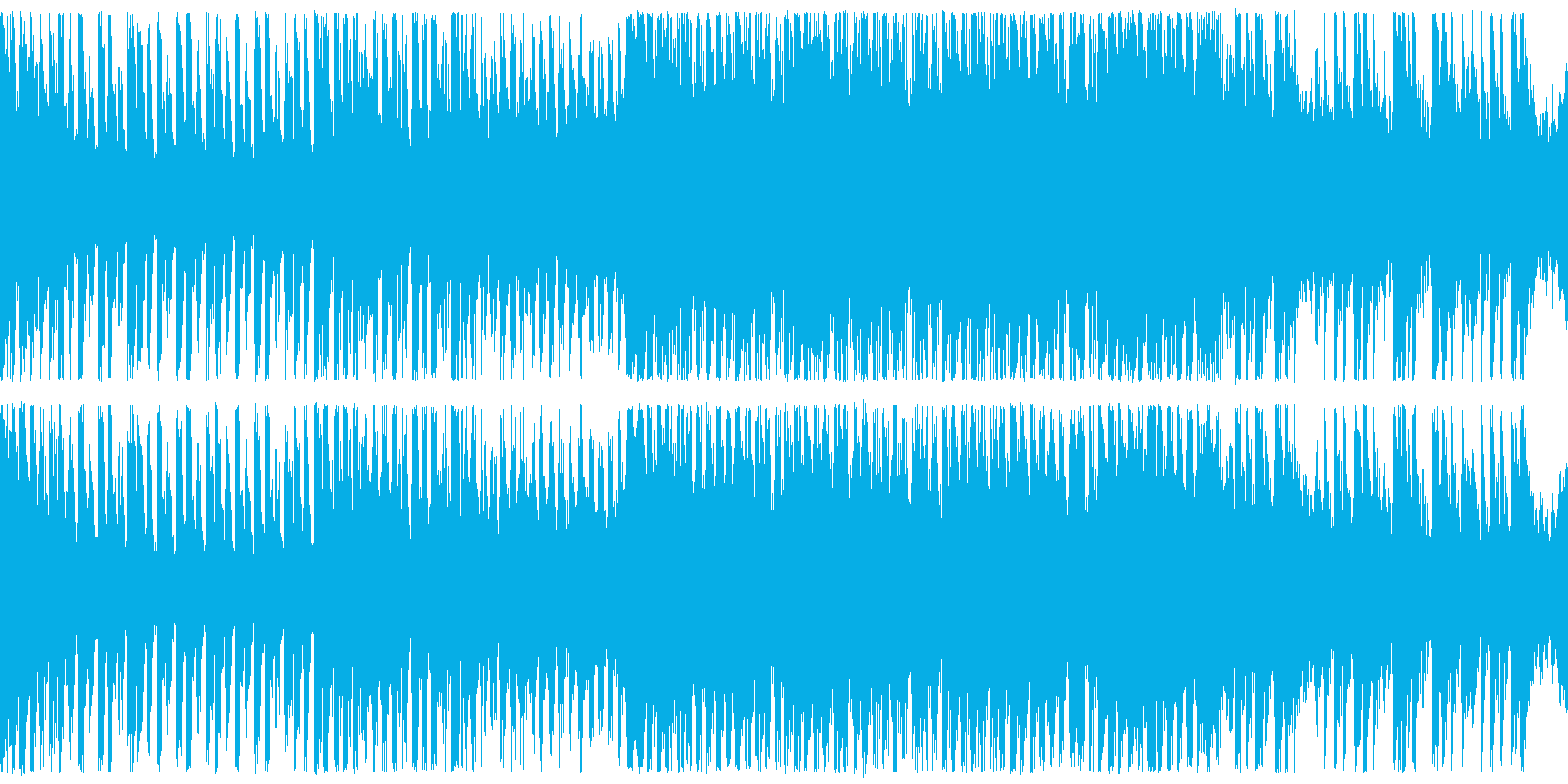 ループ、対戦、シューティング、BGMの再生済みの波形