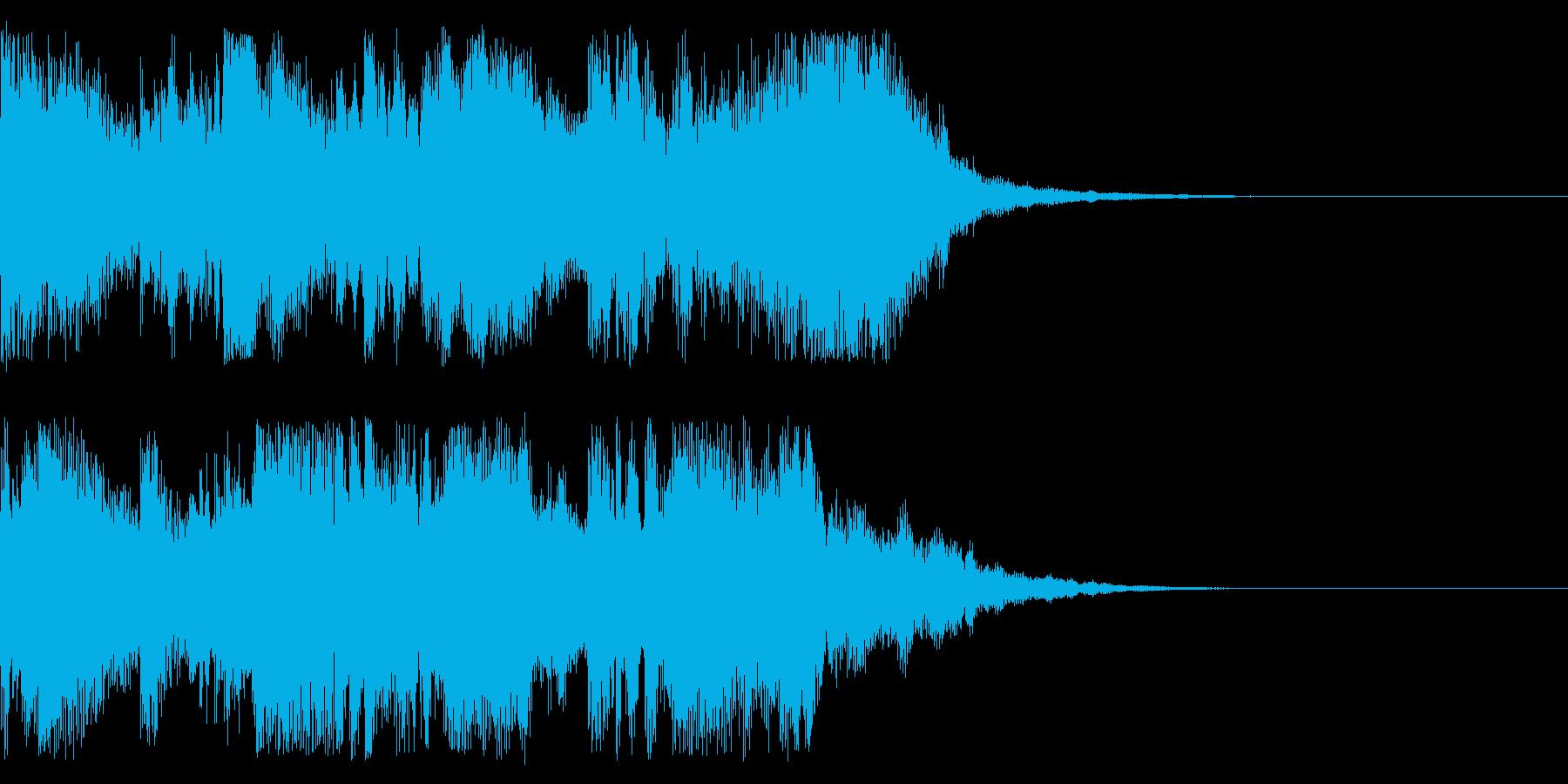 ステータス更新時のサウンドの再生済みの波形