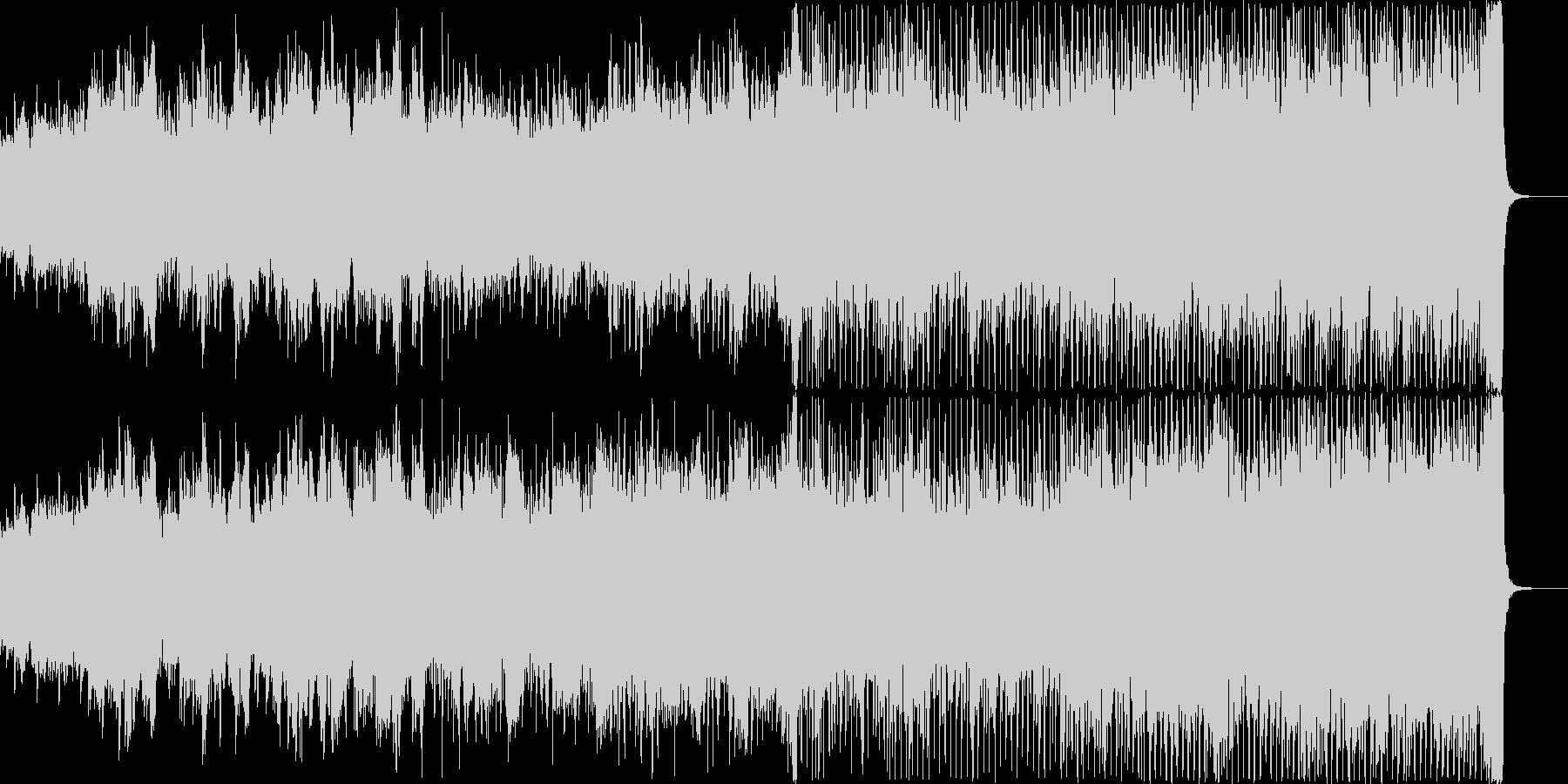 ノスタルジックで爽やかな映像、CMにの未再生の波形