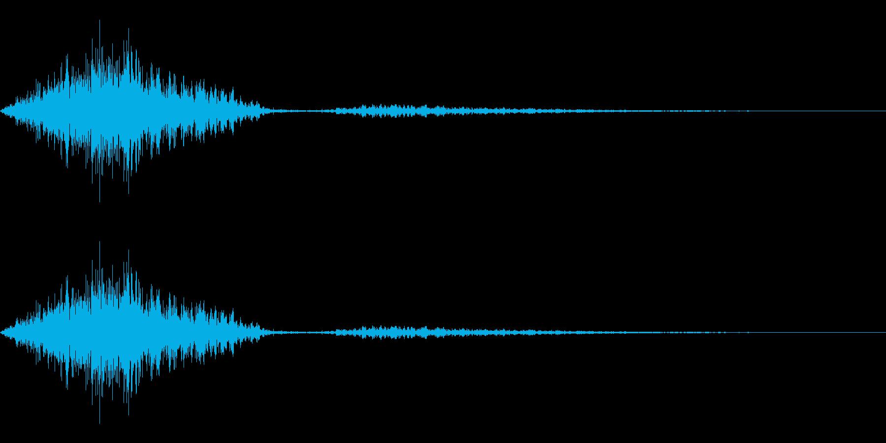 シュッ。ページをめくる(非リアル)イメ…の再生済みの波形