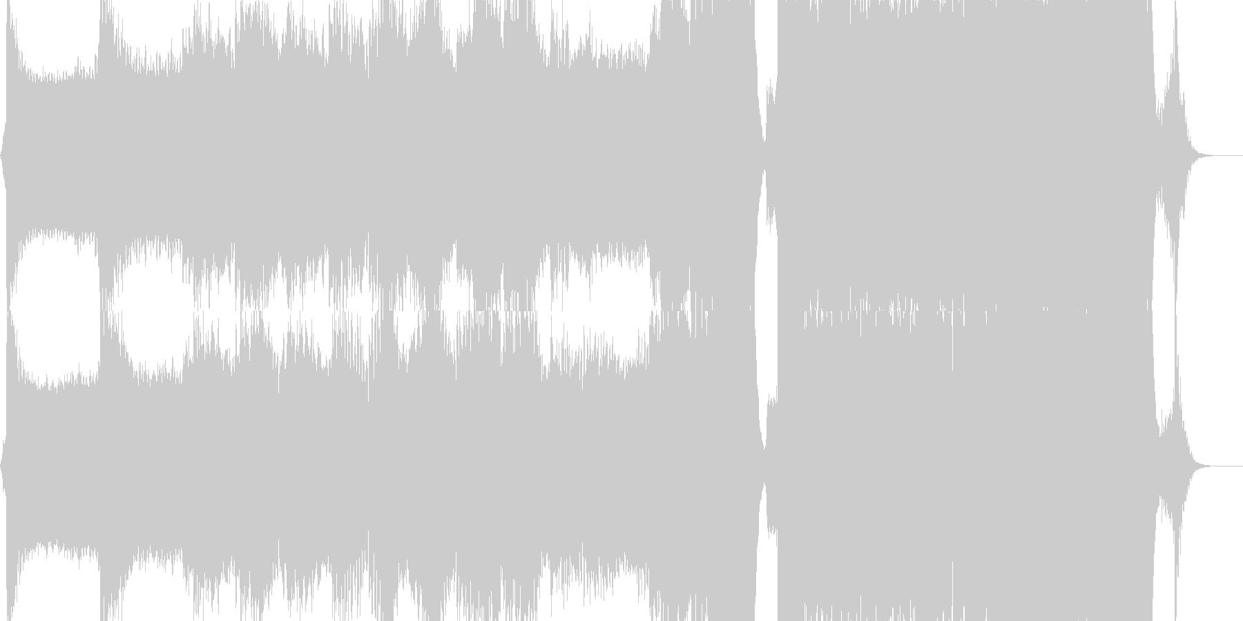 エピック・オーケストラ・重厚感の未再生の波形