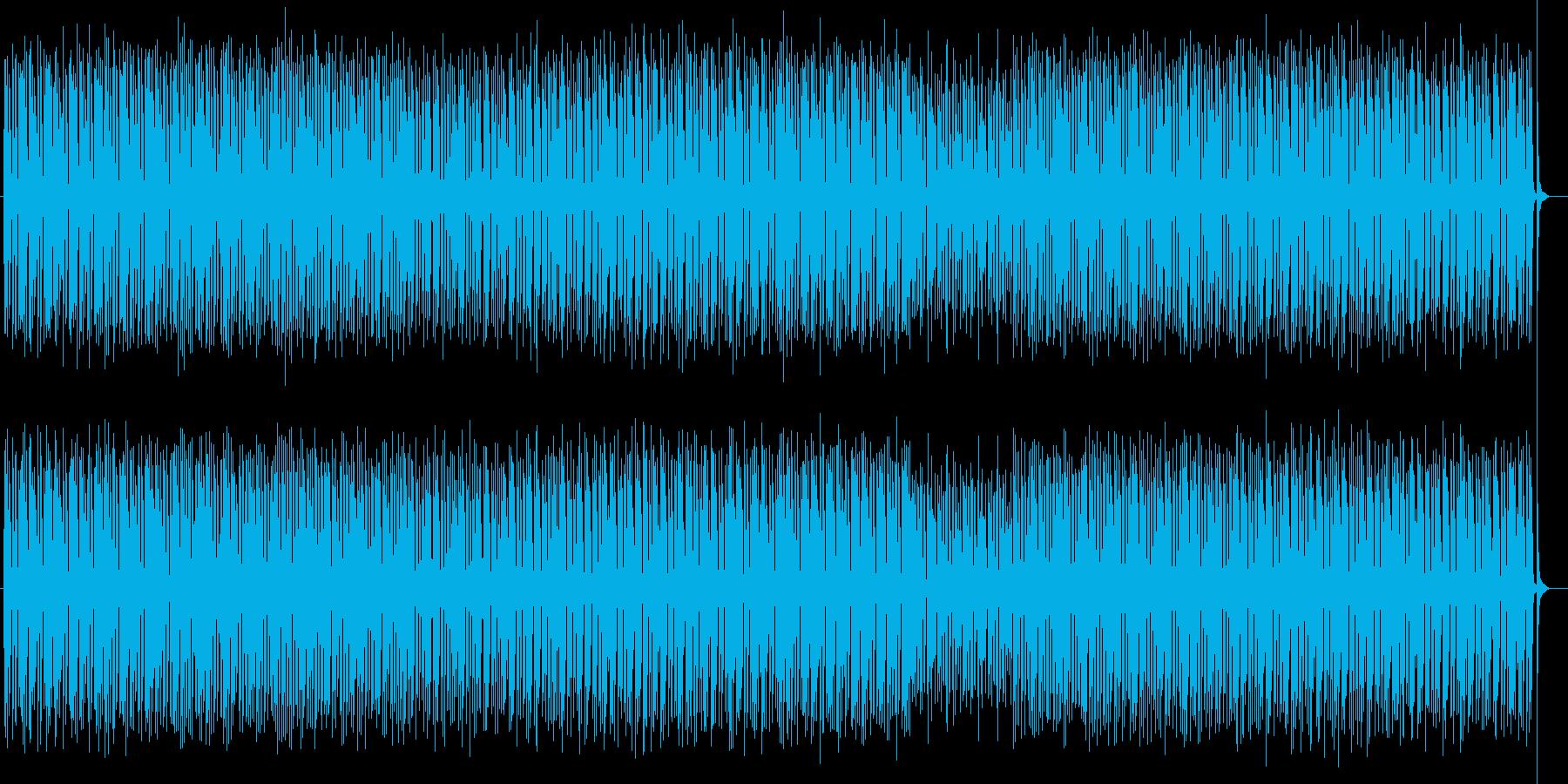 かわいいシンセサイザー電子音の再生済みの波形