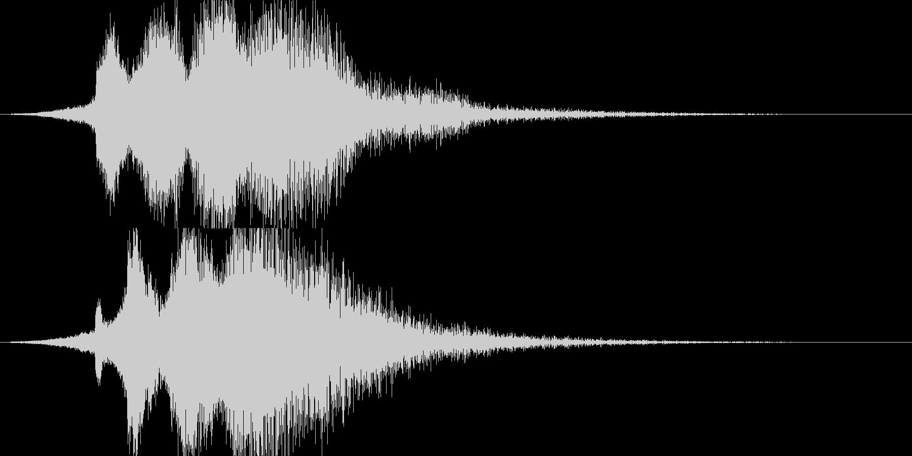 キラーン(アプリ、サウンドロゴ等に)の未再生の波形