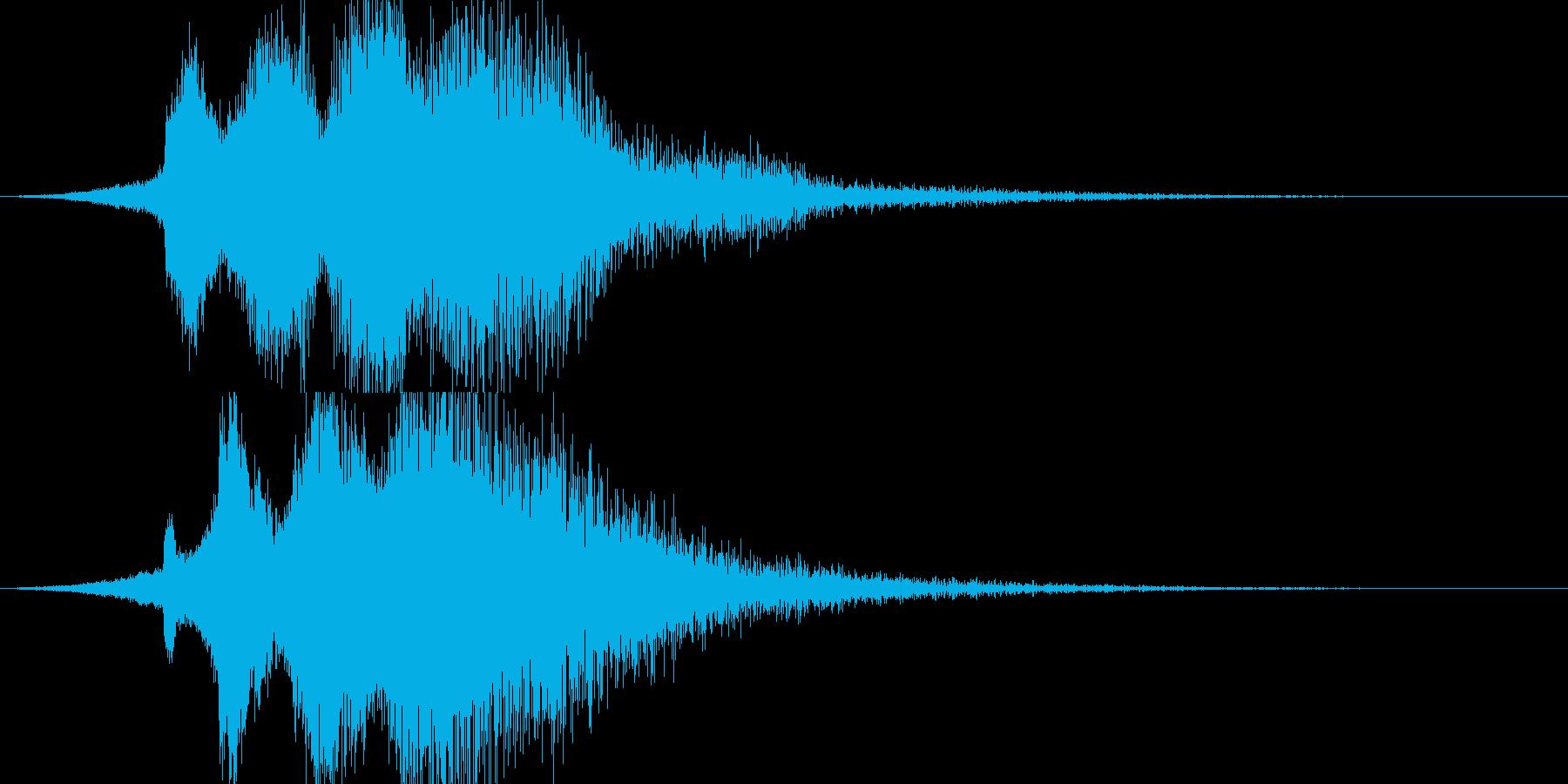キラーン(アプリ、サウンドロゴ等に)の再生済みの波形
