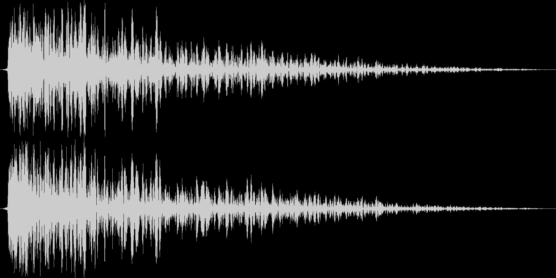 ギュン(金属系効果音)の未再生の波形