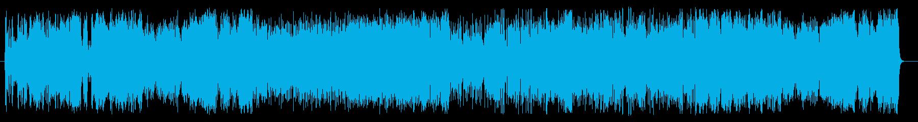 若干早めの、6/8を基調とした楽曲。荒…の再生済みの波形
