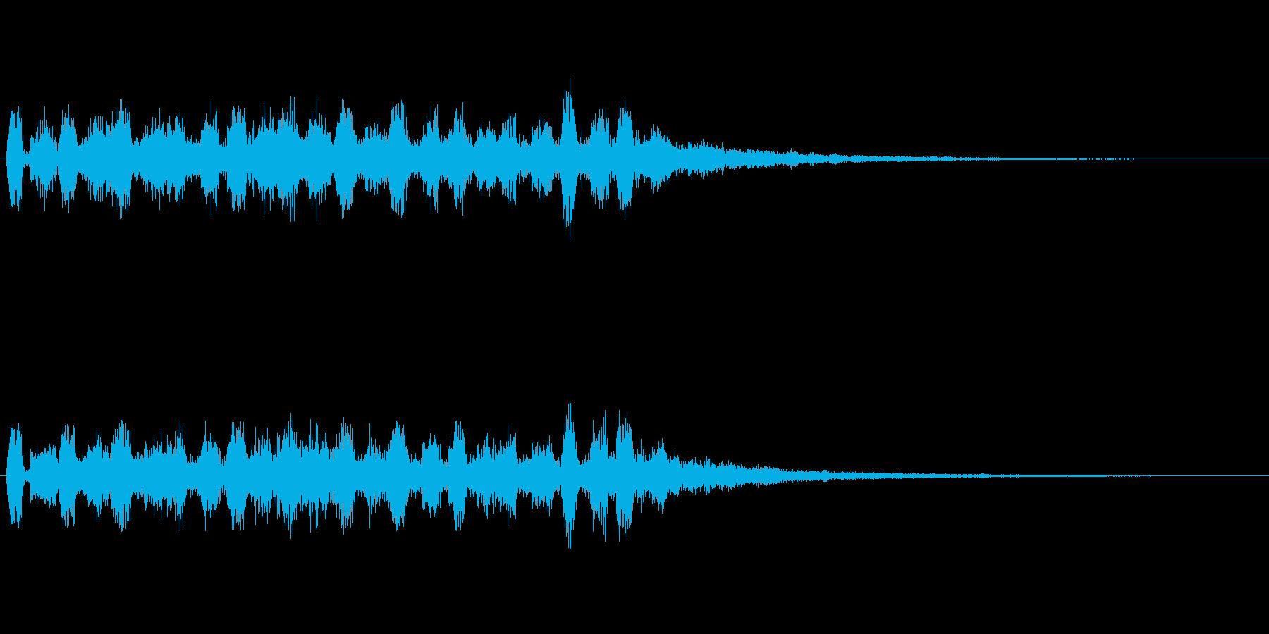 【SE 効果音】ピロピロ2の再生済みの波形