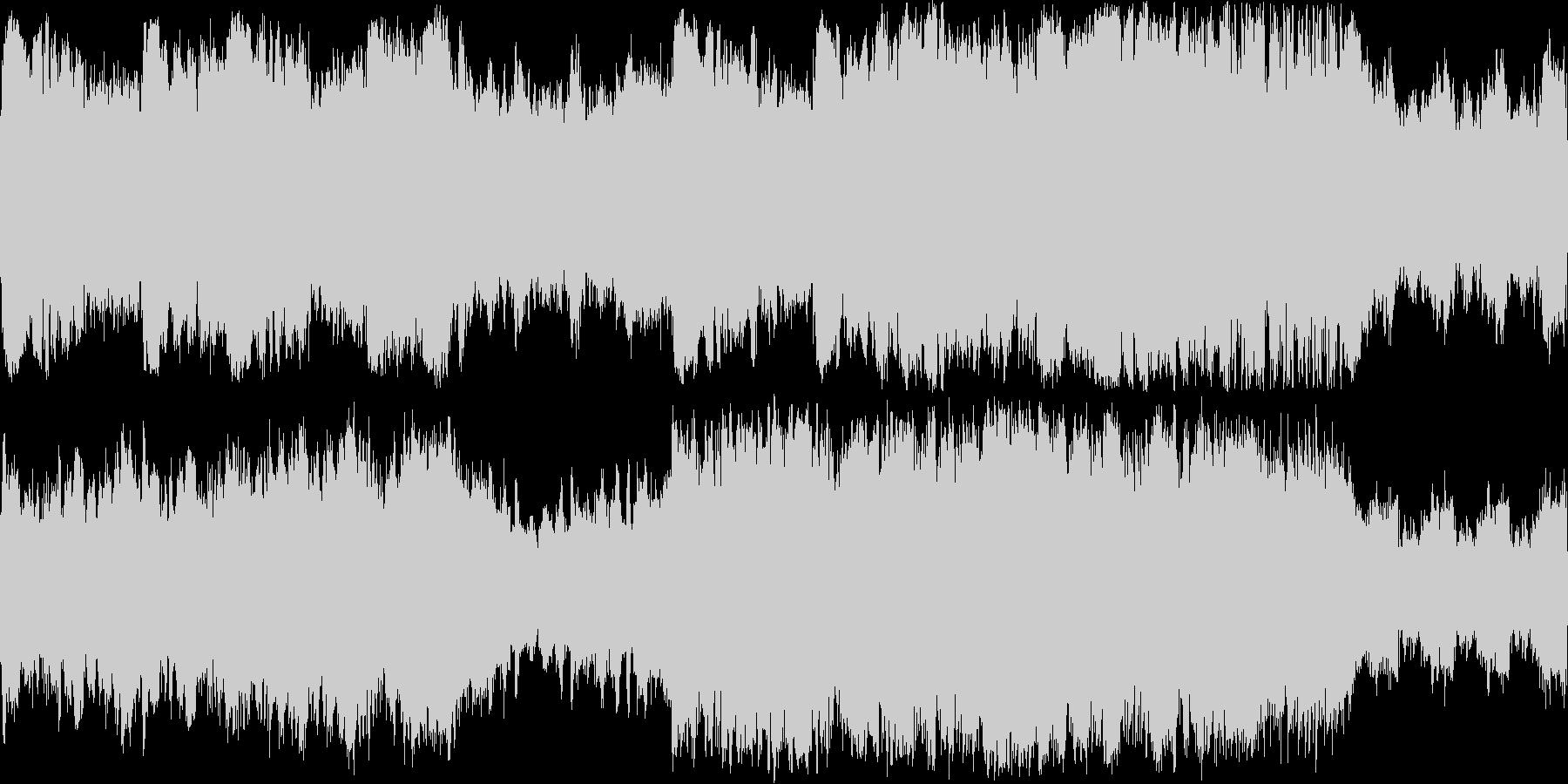 戦闘系オーケストラBGM(ループ)の未再生の波形