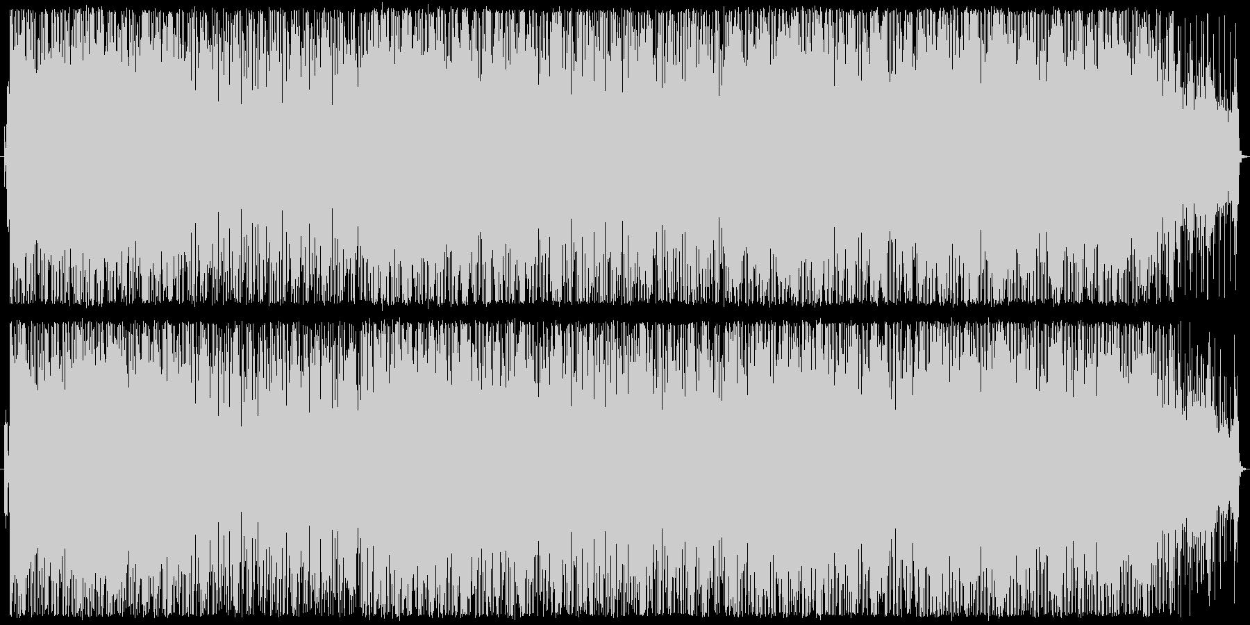 ジャングル系リズムを使ったインスト曲の未再生の波形