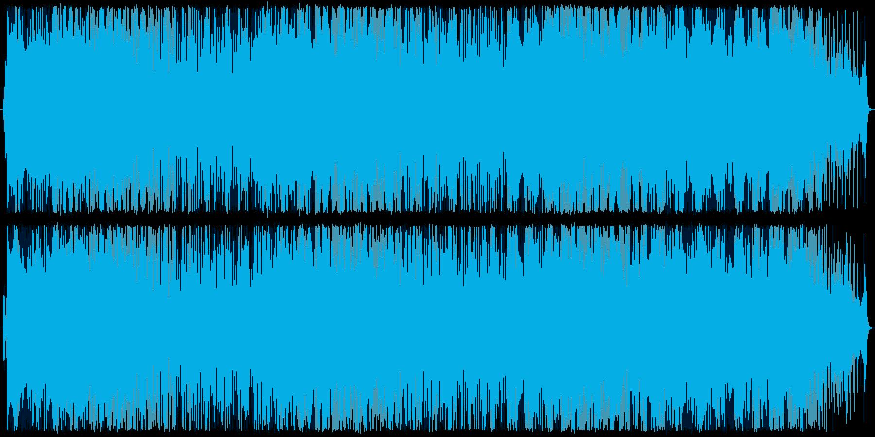 ジャングル系リズムを使ったインスト曲の再生済みの波形