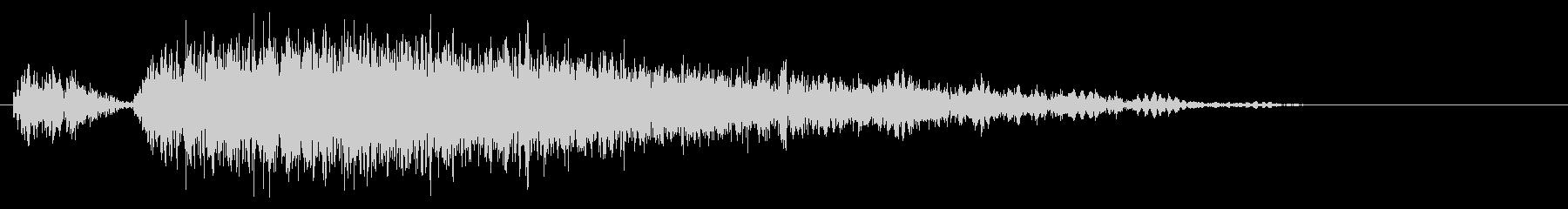 パンチやキック(大打撃、カウンター)1Lの未再生の波形
