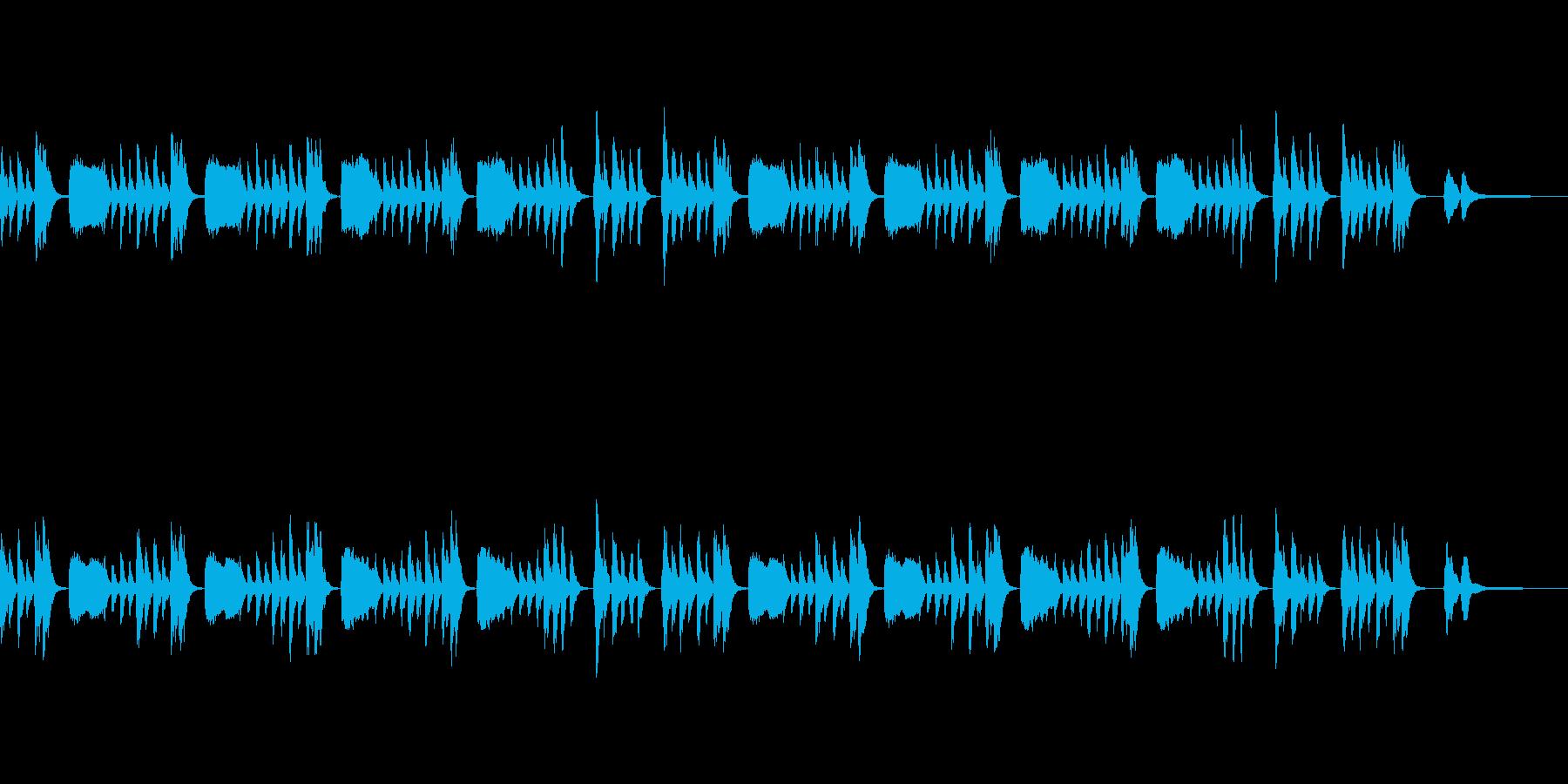 アニメ劇伴風:しのび足・こそこその再生済みの波形
