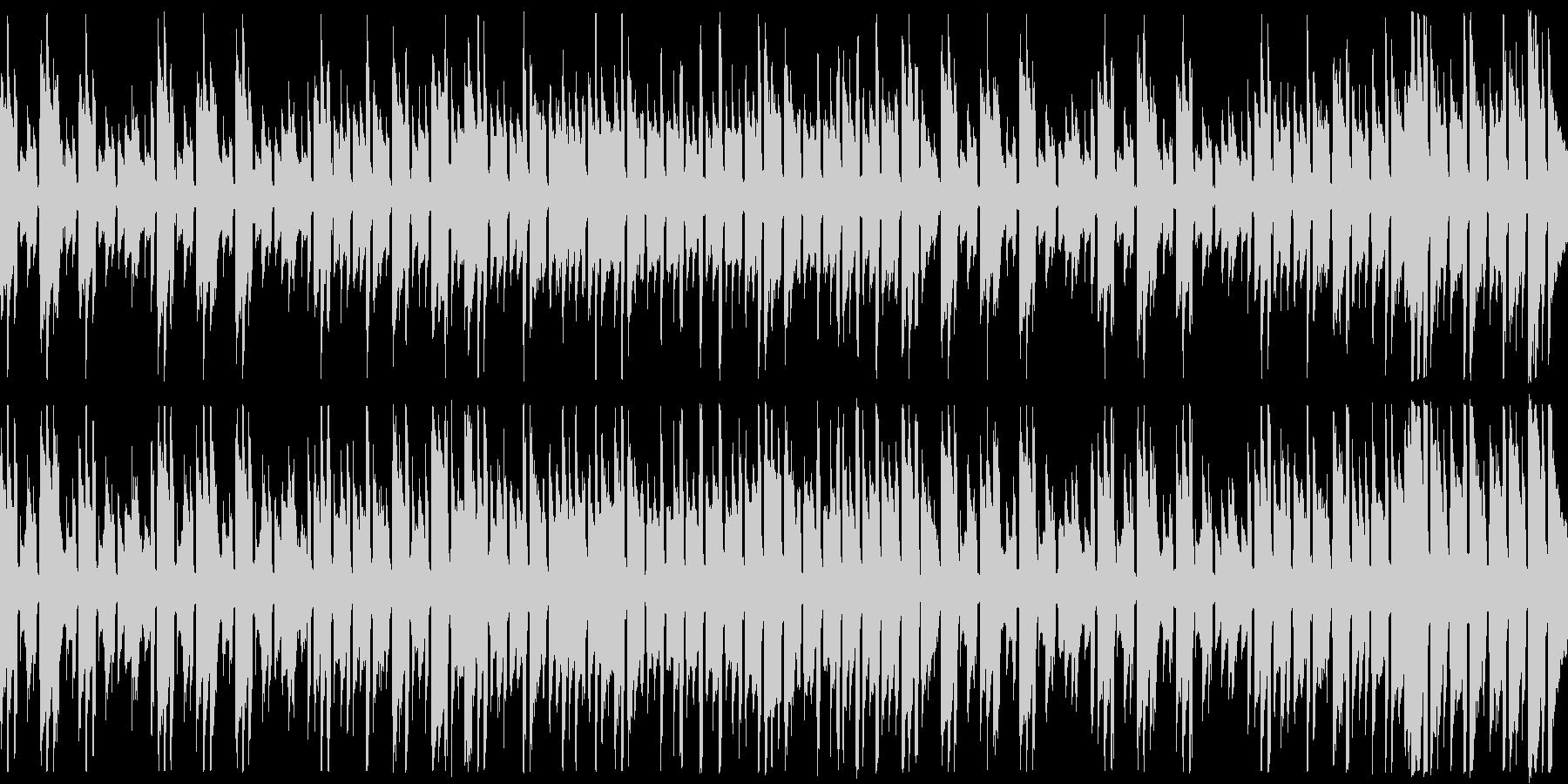 アコギのみの不思議な世界観の楽曲の未再生の波形