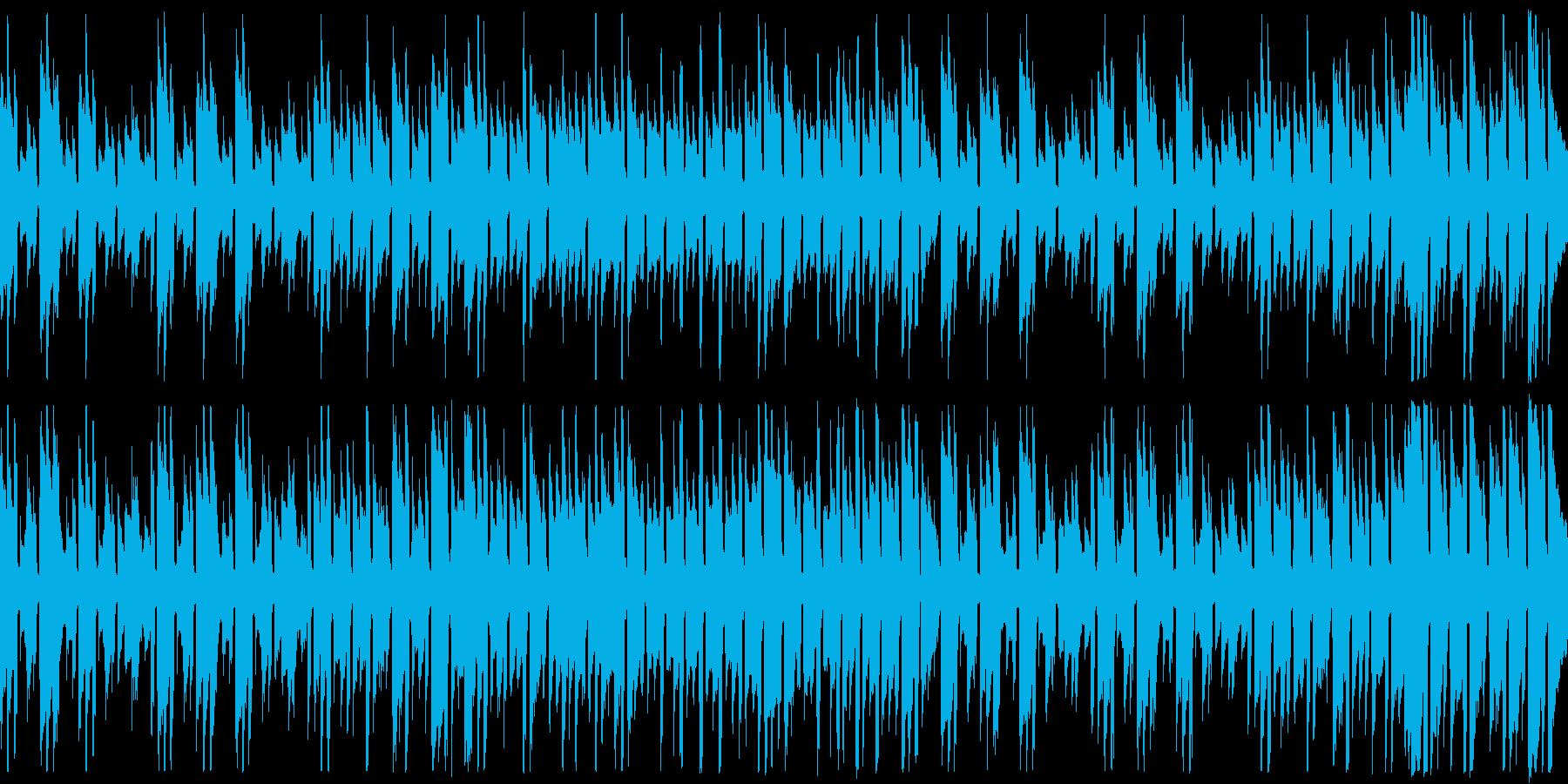 アコギのみの不思議な世界観の楽曲の再生済みの波形