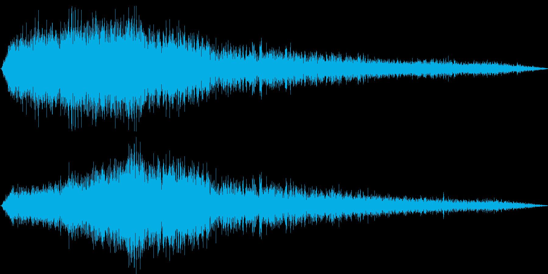 【環境音】飛行機の音03(羽田)の再生済みの波形