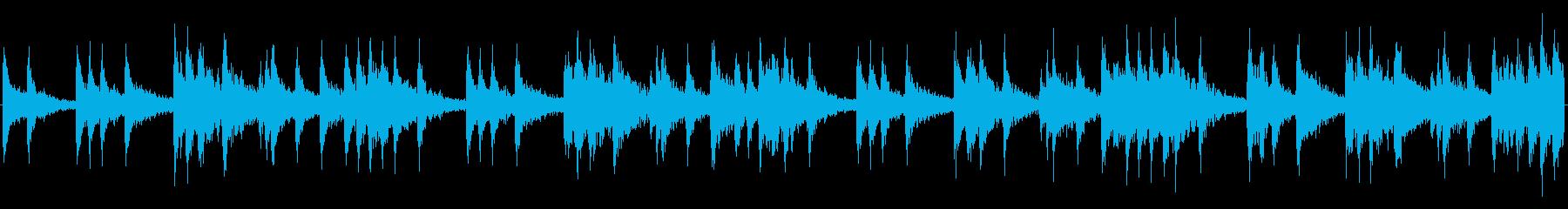 戦争、戦闘向けマーチ スネア ループ版の再生済みの波形