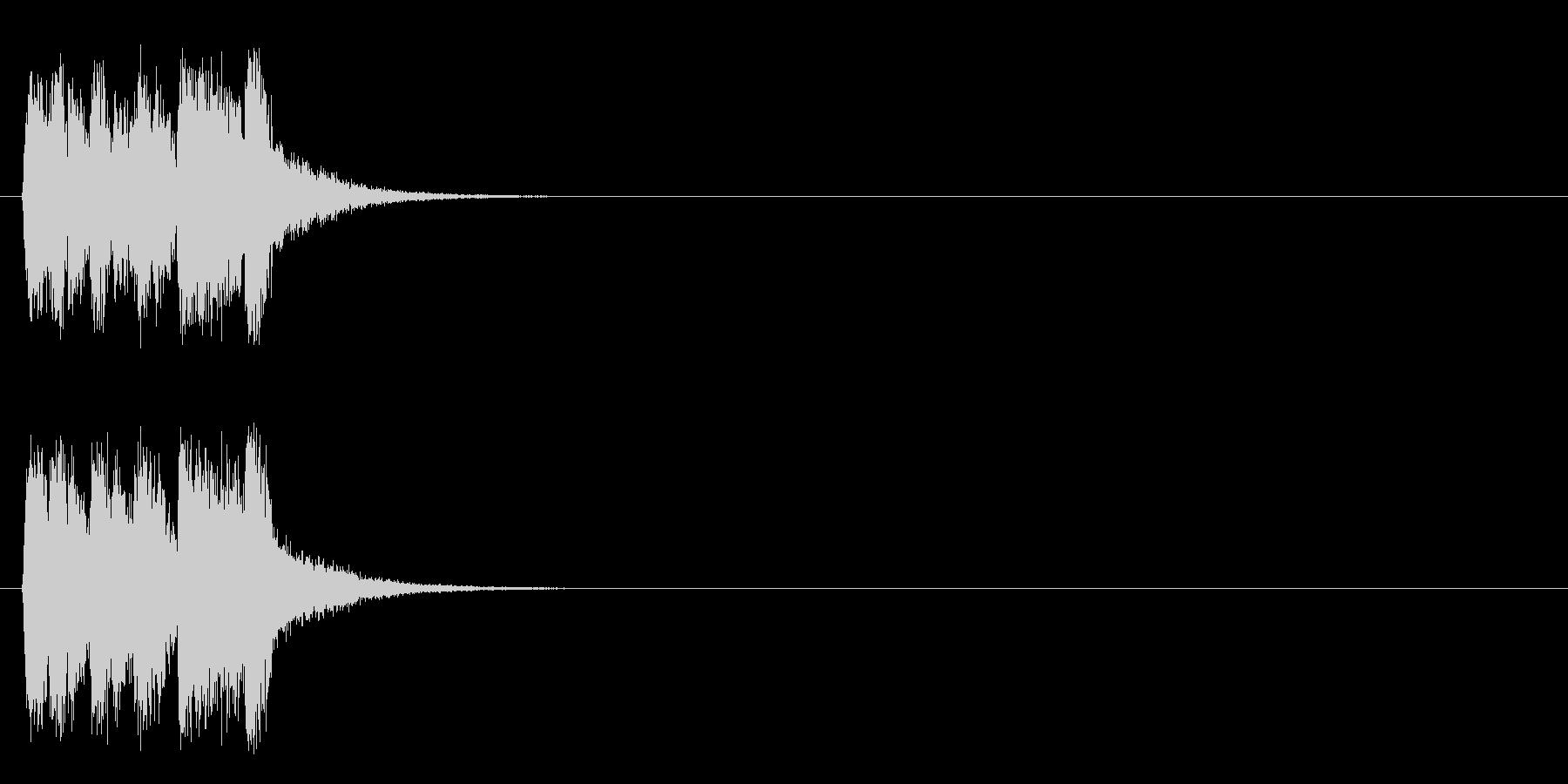 ジングル/ポップ(コーナー・アタック風)の未再生の波形