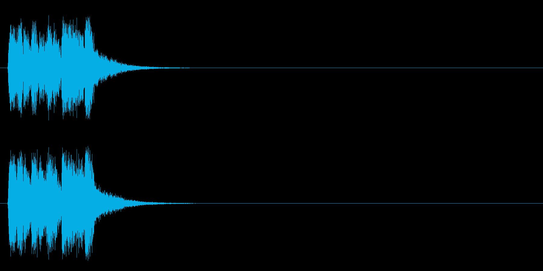 ジングル/ポップ(コーナー・アタック風)の再生済みの波形