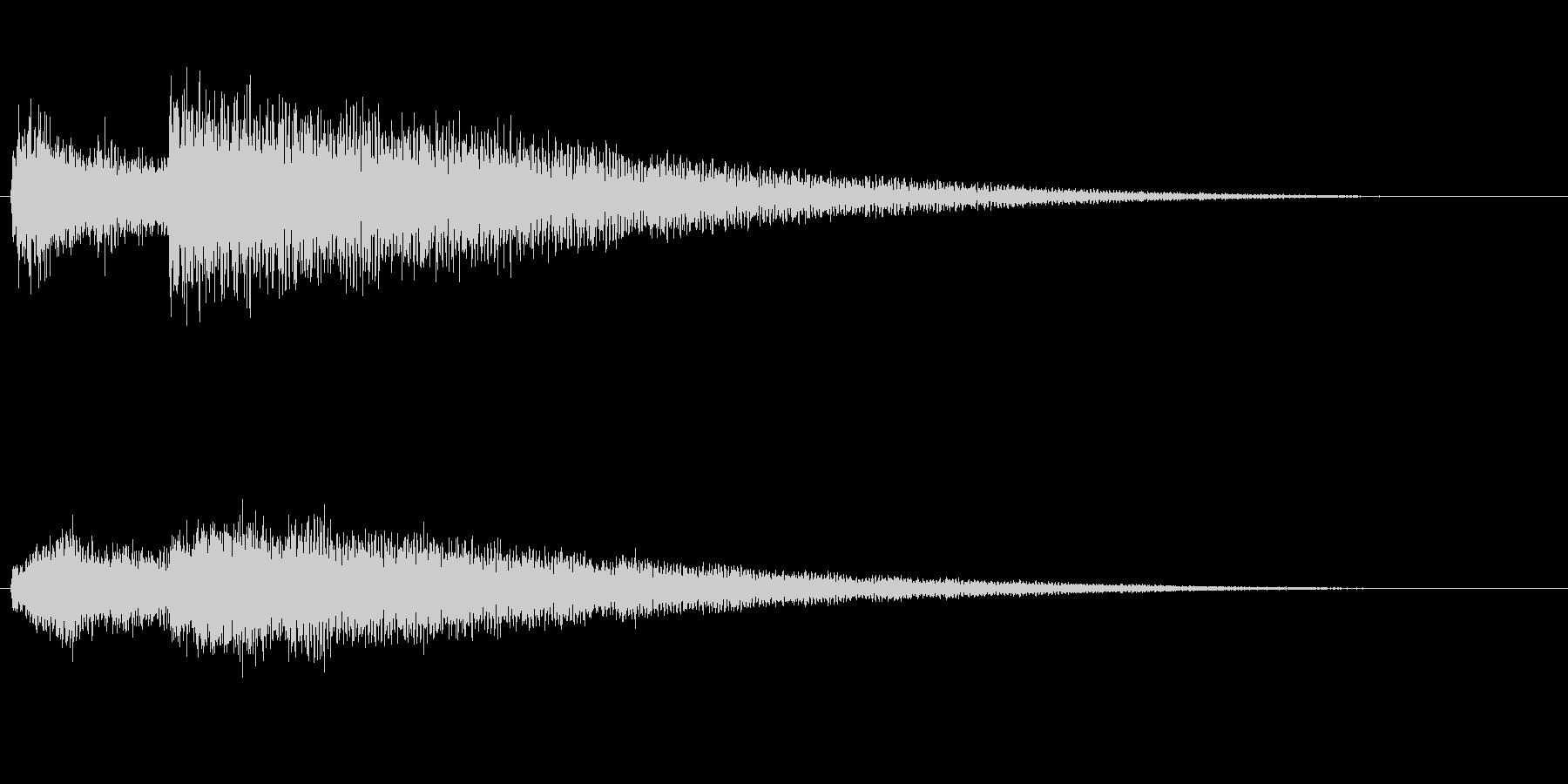 ベル系の効果音(余韻長め)の未再生の波形