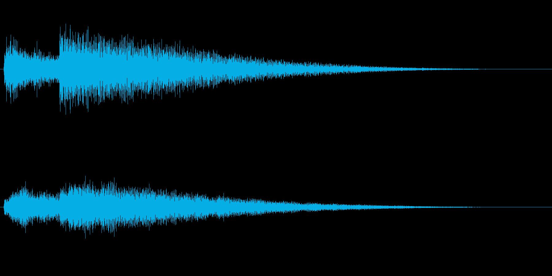 ベル系の効果音(余韻長め)の再生済みの波形