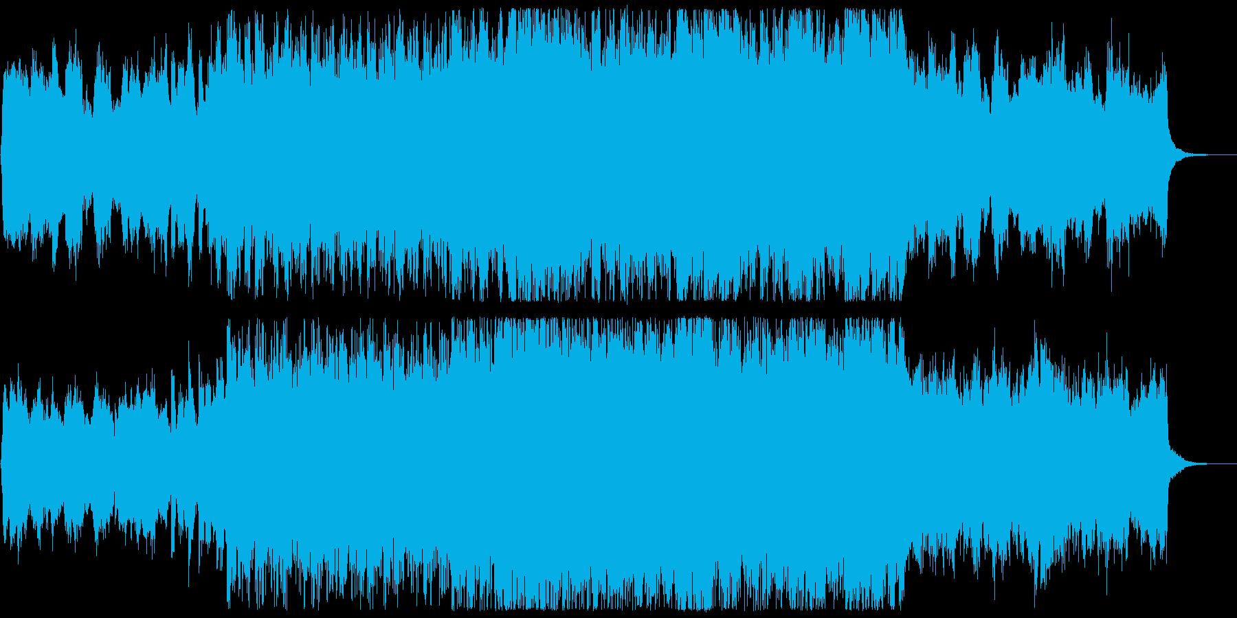 弦楽とドラムの力強いクラシックロックの再生済みの波形