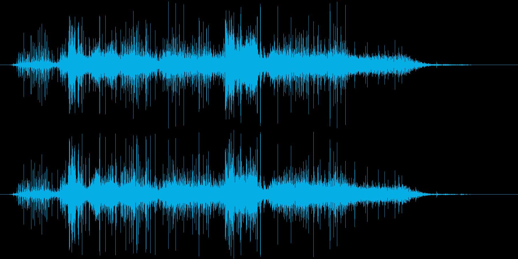 ビリビリ(電気が流れる音)の再生済みの波形