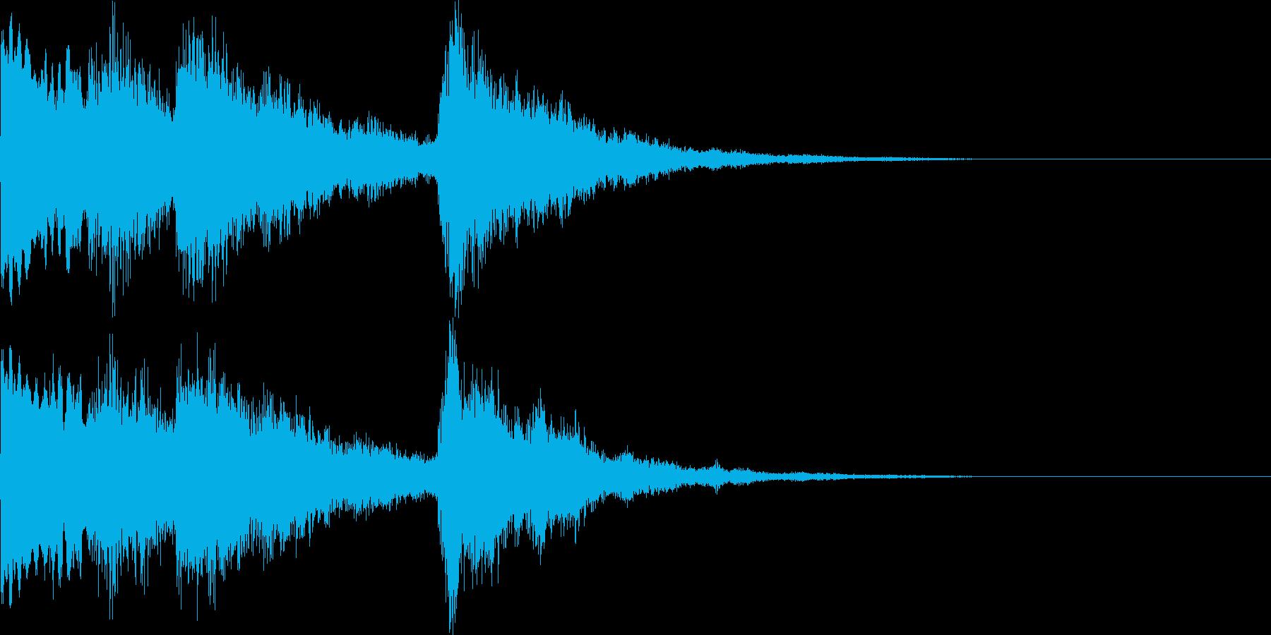 【和風シンセ音】のサウンドロゴですの再生済みの波形