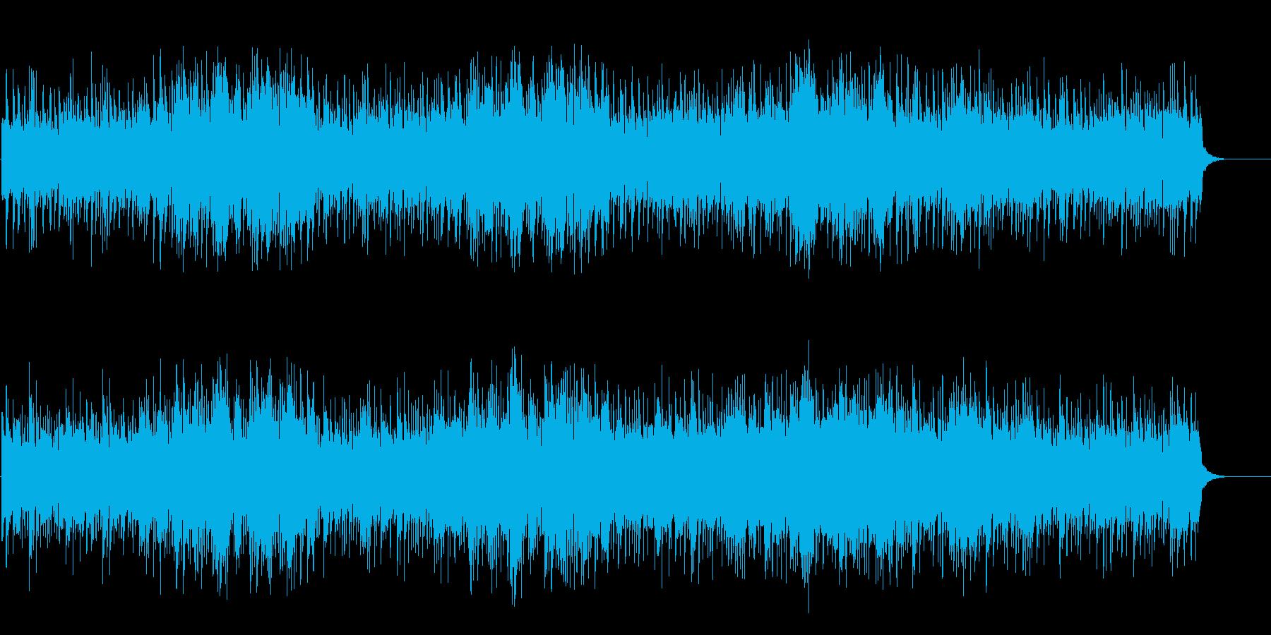 深海の浮遊感漂うワールド音楽風環境の再生済みの波形