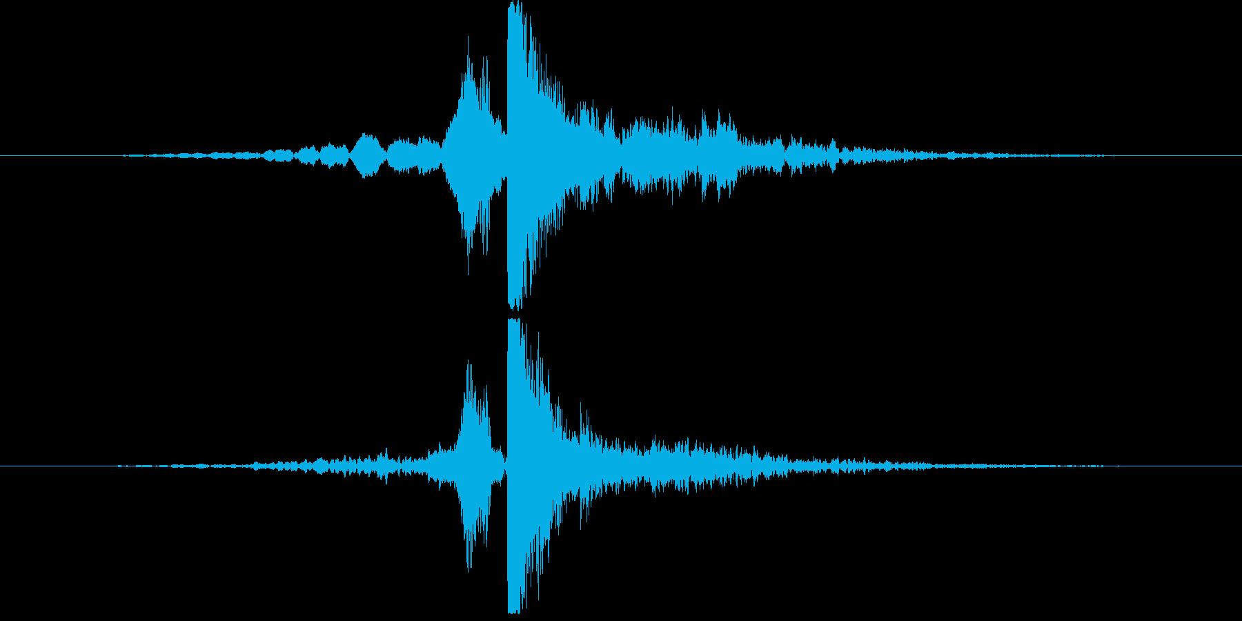 ヒューバン(ホラー系落下音)の再生済みの波形