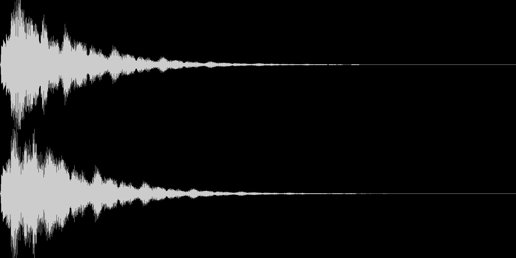 サウンドロゴ39_ベル系の未再生の波形
