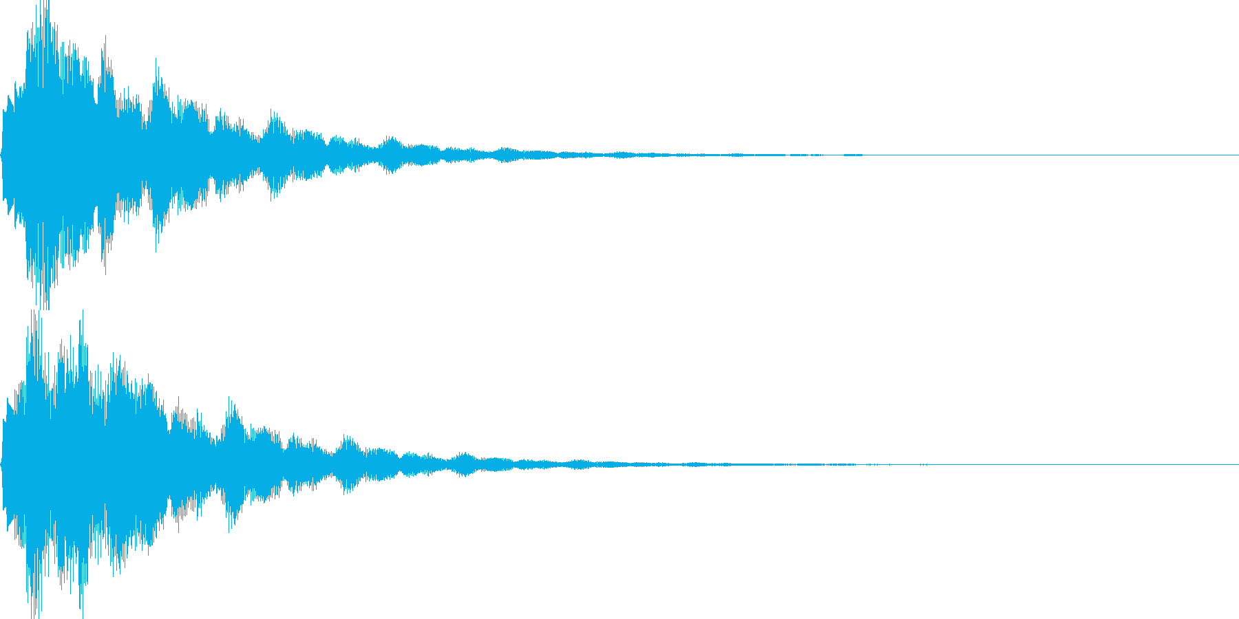 サウンドロゴ39_ベル系の再生済みの波形