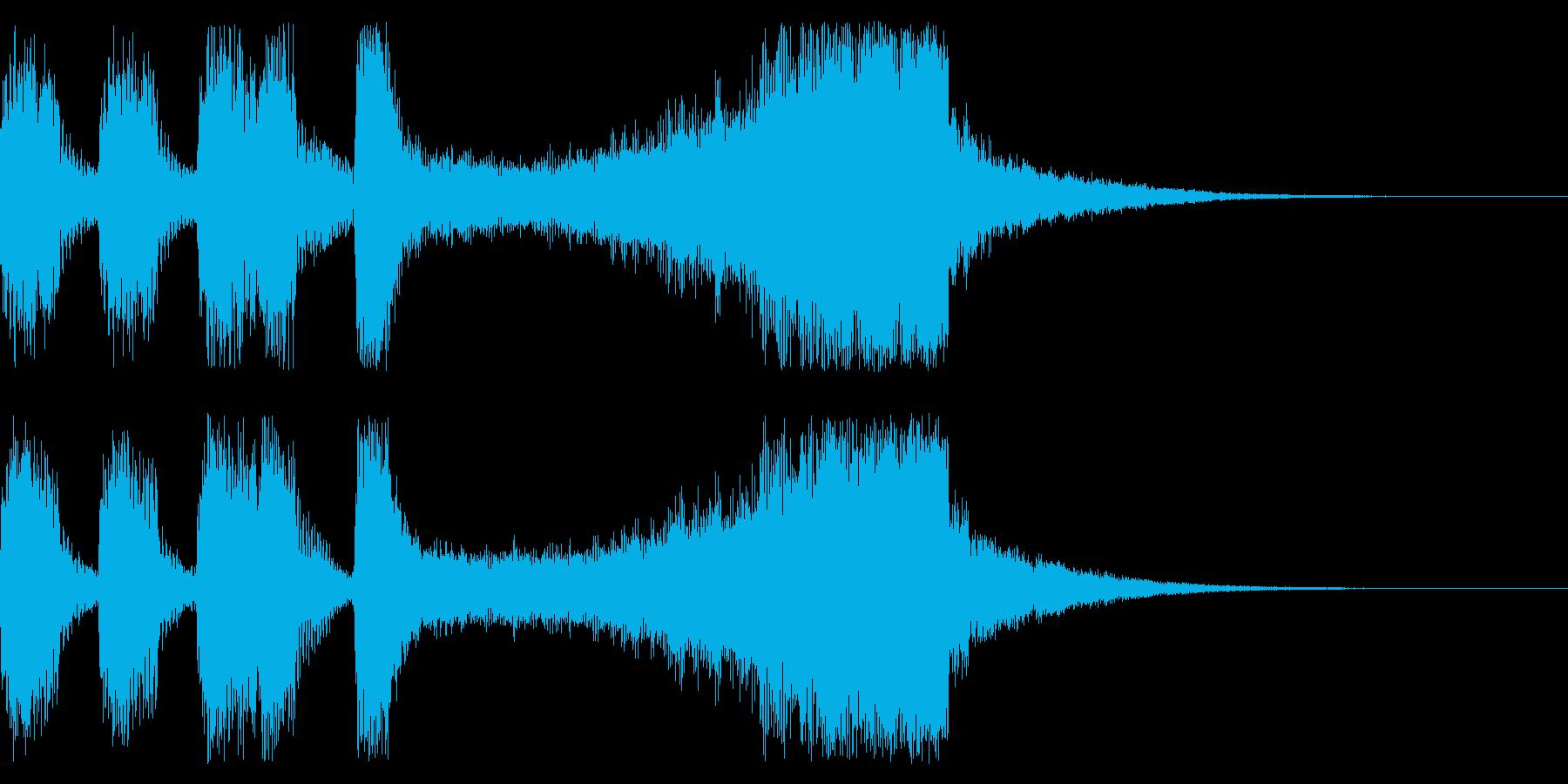 マリンバとブラスのファンファーレの再生済みの波形