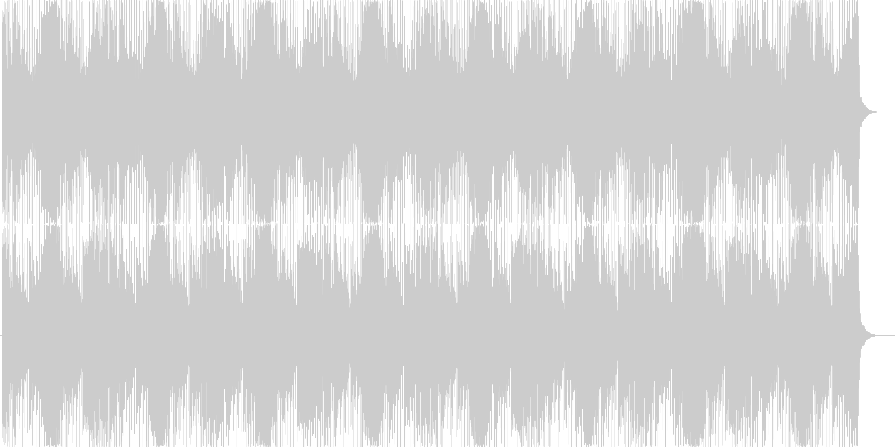 ピアノとリズムシーケンスの緊迫系ゲーム曲の未再生の波形
